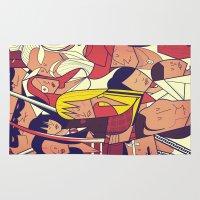 kill bill Area & Throw Rugs featuring Kill Bill by Ale Giorgini