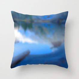 Reflections on my secret lake Throw Pillow