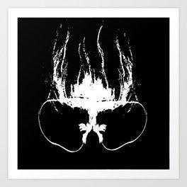 Flaming Specs Art Print