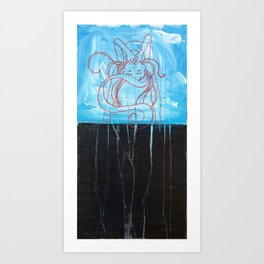 Silently Screaming Art Print