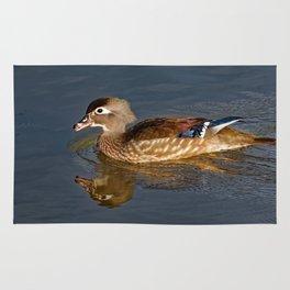 Female Wood Duck Calling Rug