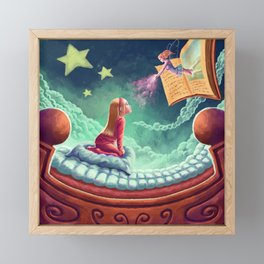 Fairy book Framed Mini Art Print