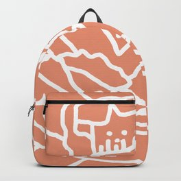 Burnt Orange Peony Backpack