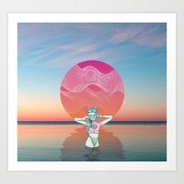 Sunset Over Vallarta Art Print