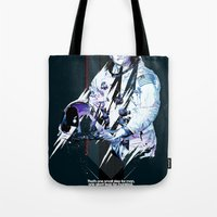 neil gaiman Tote Bags featuring Neil Armstrong Tribute by Largetosti