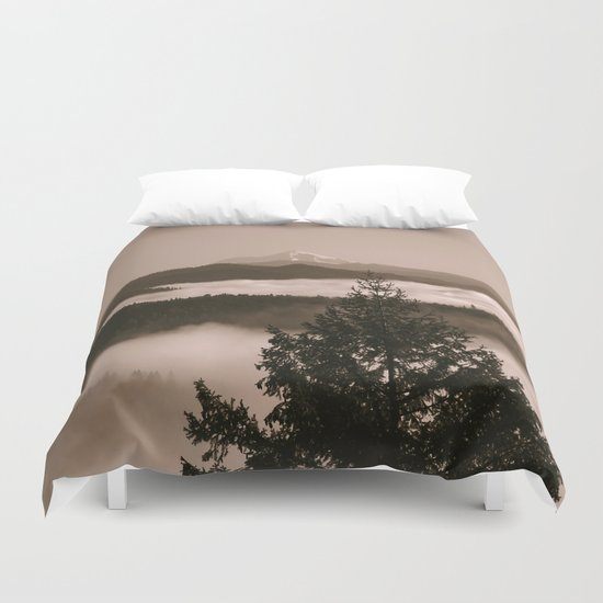 Moments in the fog... Duvet Cover