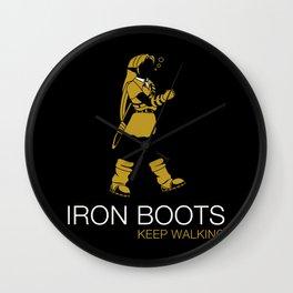 Iron Boots Wall Clock