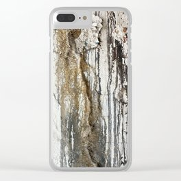 White Decay II Clear iPhone Case