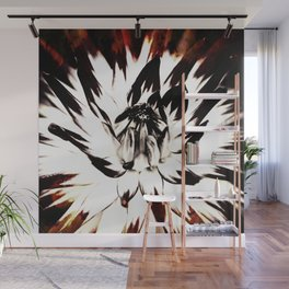 FLAMES AND FLOWES Wall Mural