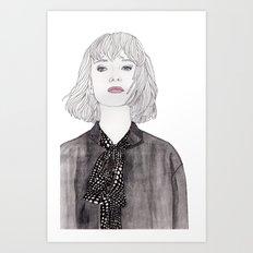 Pastel Girl 2 Art Print