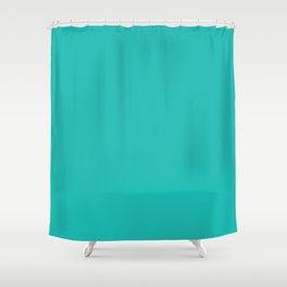 Teal Blue Sea Green Shower Curtain