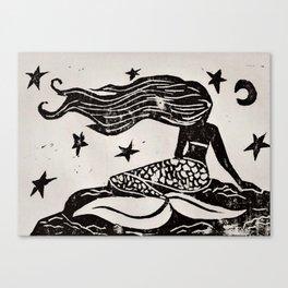 Night Mermaid Canvas Print