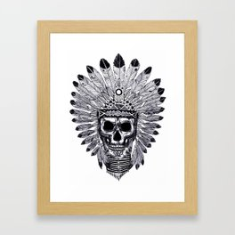 ornate skull drawing Framed Art Print