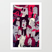 rocky horror picture show Art Prints featuring The Rocky Horror Picture Show by Ale Giorgini
