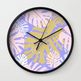 Tropical Monstera Wall Clock