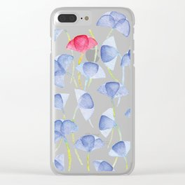 Violets flover, watercolor pattern Clear iPhone Case