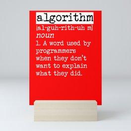 Algorithm computer scientist gift idea Mini Art Print