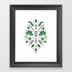 Orienteering insects Framed Art Print