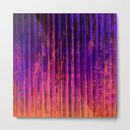 Syntax (Purple + Orange) Metal Print