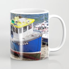 Fishing boat at Boscastle harbour Coffee Mug