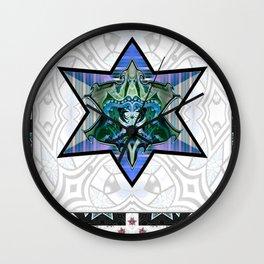 Knight shield mealic armour Wall Clock