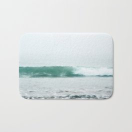 Aqua Wave in Fog Bath Mat