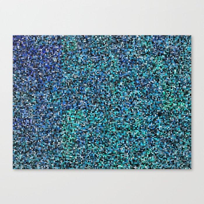 treemap mosaic - copper sulfate Canvas Print