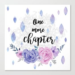 One more chapter - Flower Drops white watercolor illustration Canvas Print