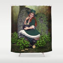 Leprechaun Lass Shower Curtain
