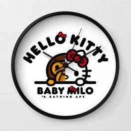 baby kitty Wall Clock