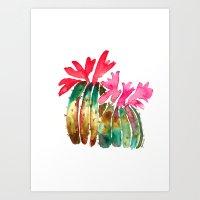 Cactus Art - Mini print Art Print