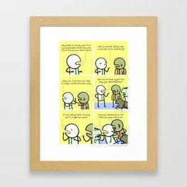 Antics #086 - zing indeed Framed Art Print