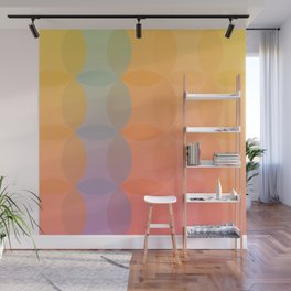 Colourful Abstract Flowers Wall Mural