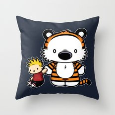 Hello Tiger Throw Pillow