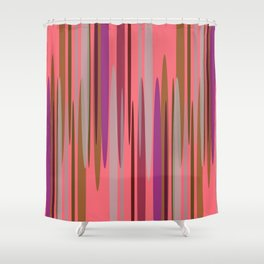Peakwold (Red) Shower Curtain
