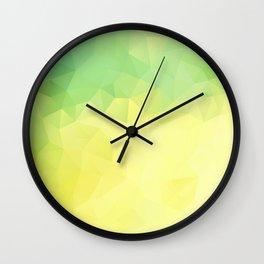 """Lemon-lime pie"" geometric design Wall Clock"
