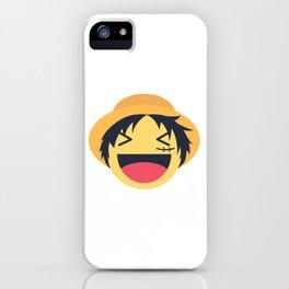 Monkey D. Luffy Emoji Design iPhone Case