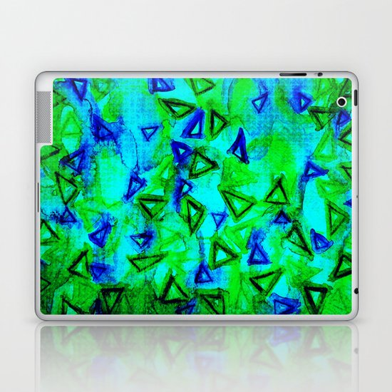 ANALOG zine - TECHNO VIBE Collaboration Piece, Bold Colorful Abstract Watercolor Painting Music Laptop & iPad Skin
