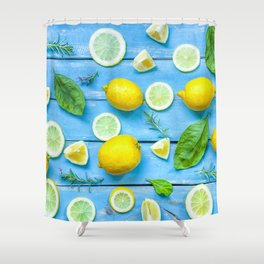 Fruits and leaves pattern (24) Shower Curtain