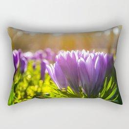 Purple crocus Rectangular Pillow