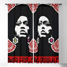 Rainbow Motif - Angela Davis - Power & Equality - Power to the People Vintage Poster Blackout Curtain