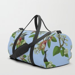 Tui in Pohutukawa Flowers Duffle Bag