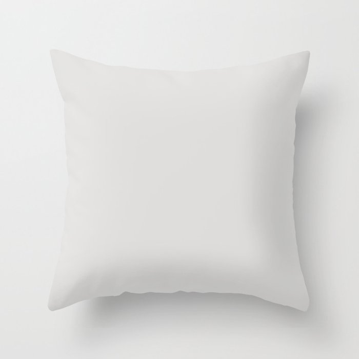 Rice White Solid Color Pairs with Sherwin Williams Mantra 2020 Forecast colors Spatial White SW6259 Throw Pillow
