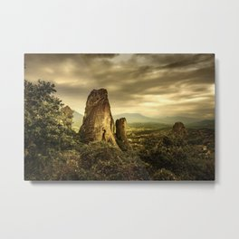 Meteora (Greek Landscape) Metal Print