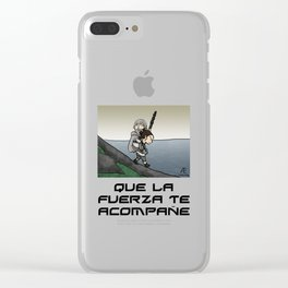 Que la fuerza (negro) Clear iPhone Case