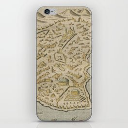 Vintage Pictorial Map of Constantinople (1620) iPhone Skin