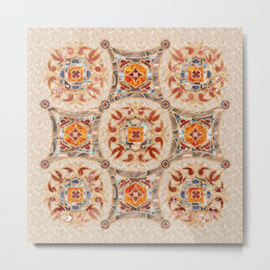 Brown Mandala 01 Metal Print