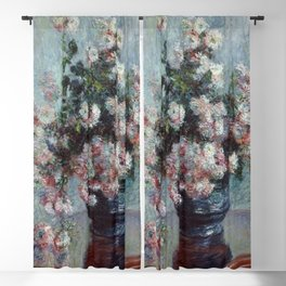 "Claude Monet ""Chrysanthemums"", 1882 Blackout Curtain"