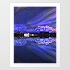 Nightfall Reflection Art Print