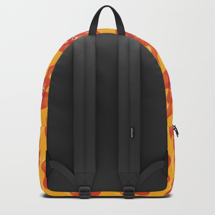 Happy Burning Cartoon Fire Backpack